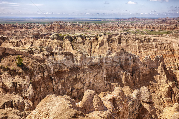 Pinnacles Viewpoint At South Dakota Badlands Stock photo © searagen