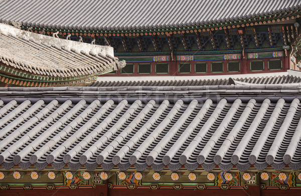 Korean Palace Roof Abstract Stock photo © searagen