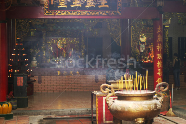 Inside Buddhist Temple Stock photo © searagen