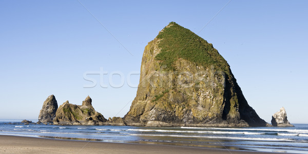 Hooiberg rock panorama kanon strand Oregon Stockfoto © searagen