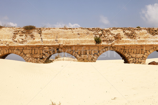 Stock photo: Roman Aqueduct At Caesaria