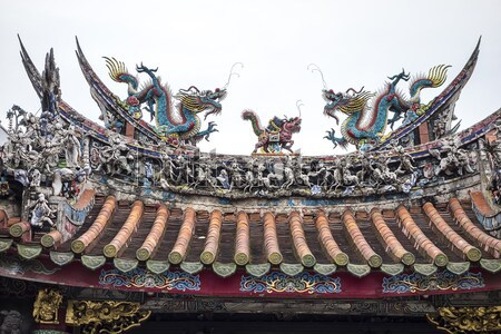 Kínai sárkány tető részlet színes díszítő egyéb Stock fotó © searagen
