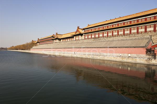 Verboden stad water Beijing een geïsoleerd Stockfoto © searagen