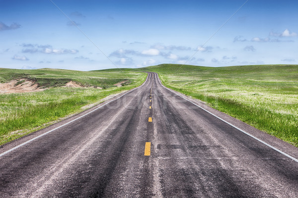 Open Highway On The Prairie Stock photo © searagen
