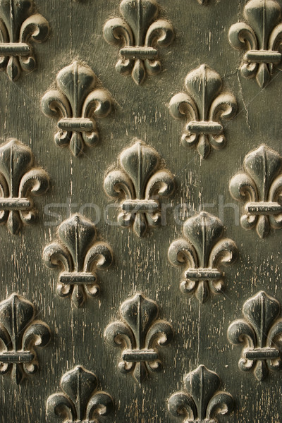 Fleur de Lis Pattern On Door Stock photo © searagen