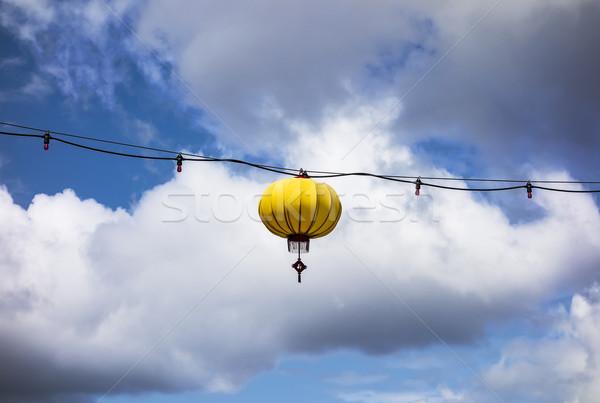 Yellow Lantern On Wire Stock photo © searagen