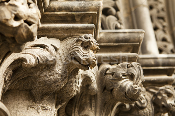 Dragon Gargoyle On Cathedral Stock photo © searagen