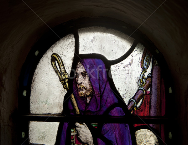 Shepherd In Stained Glass Stock photo © searagen