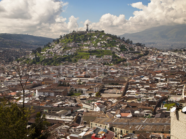 Quito Viewpoint of El Panecillo Stock photo © searagen