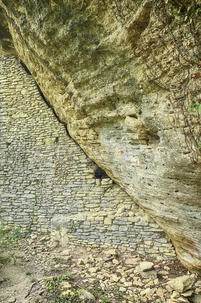 Stone House Under Cliff Stock photo © searagen
