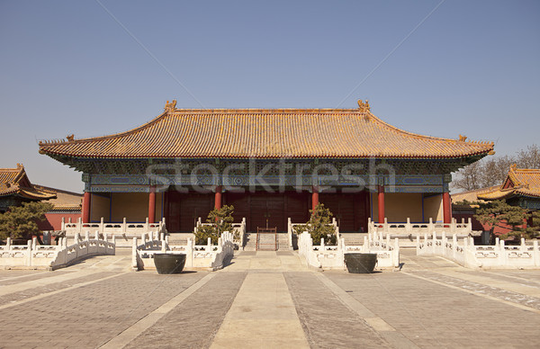 Halberd Gate In Beijing Stock photo © searagen