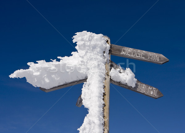 Sign To Wedge Mountain Stock photo © searagen