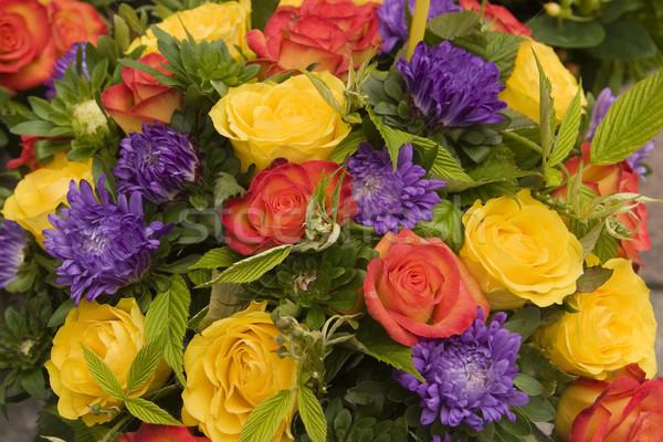 Stock fotó: Virág · kirakat · virágcsokor · virágok · utca · piac