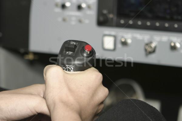 Avião mão agarrando aeronave vôo Foto stock © searagen