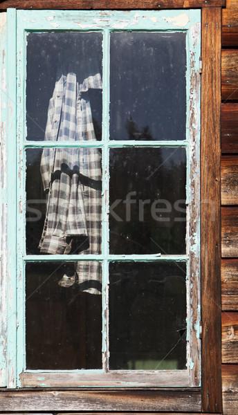 Plaid Shirt In Window Stock photo © searagen