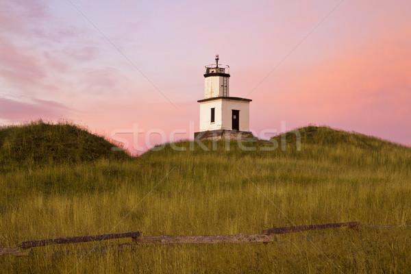 Маяк розовый рассвета небе солнце вверх Сток-фото © searagen