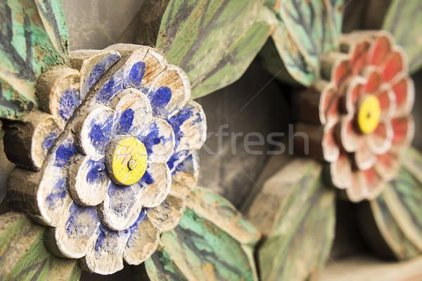 Flores primer plano vista detalle arquitectónico pintado Foto stock © searagen