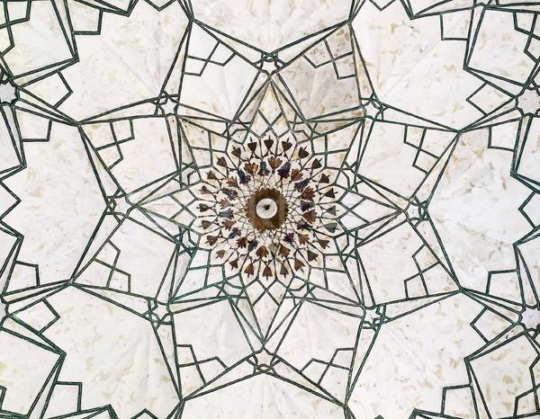 Geometrik desen kırmızı kale tören davul ev Stok fotoğraf © searagen