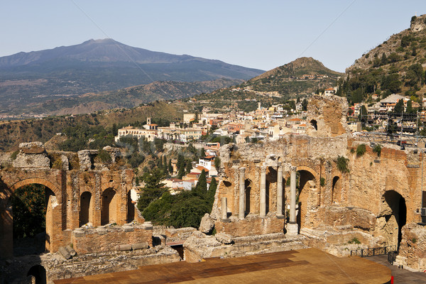 Taormina Viewpoint With Theatre Stock photo © searagen