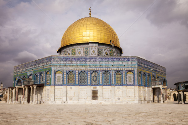 Dome Of The Rock With Clouds Stock photo © searagen