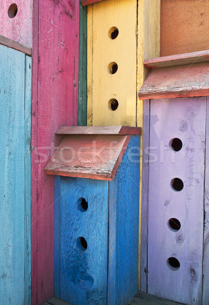Colorful High-Rise Birdhouse Stock photo © searagen