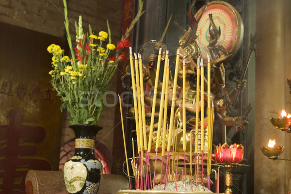 Buddhist Altar and Incense Stock photo © searagen