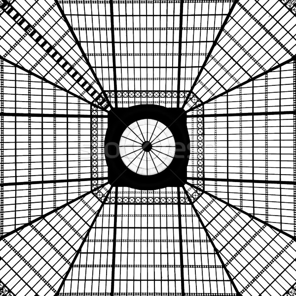 Geometryczny świetlik wzór szkła czarno białe świetle Zdjęcia stock © searagen