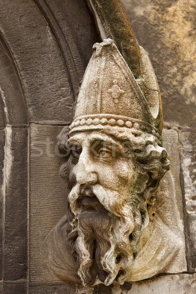 Saint Patrick Stone Carving Stock photo © searagen