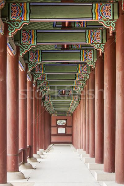 Colonnade At The Gyeongbok Royal Palace Stock photo © searagen