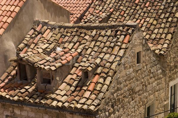 Dubrovnik eski kırmızı karo dengesiz Stok fotoğraf © searagen