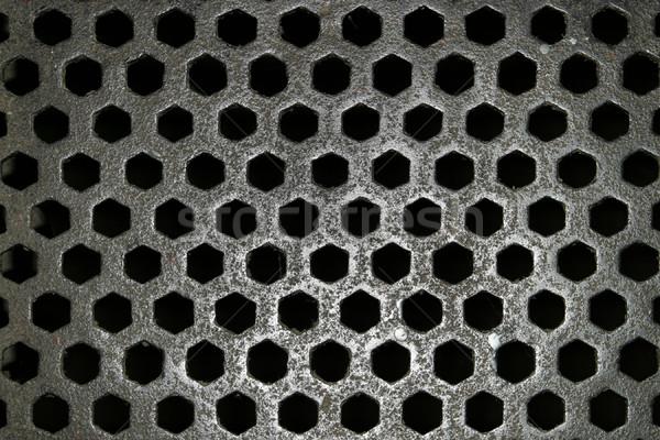 стали сетке шаблон полу тюрьму Дублин Сток-фото © searagen