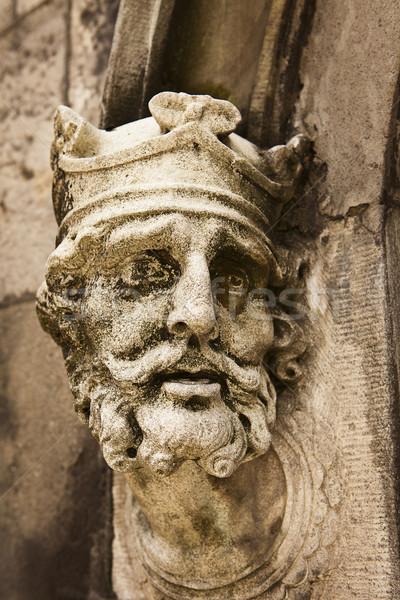 Króla starych wyblakły posąg Irlandia na zewnątrz Zdjęcia stock © searagen