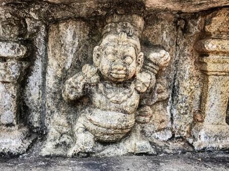 Foto stock: Dança · feminino · descobrir · pedra · nicho · angkor