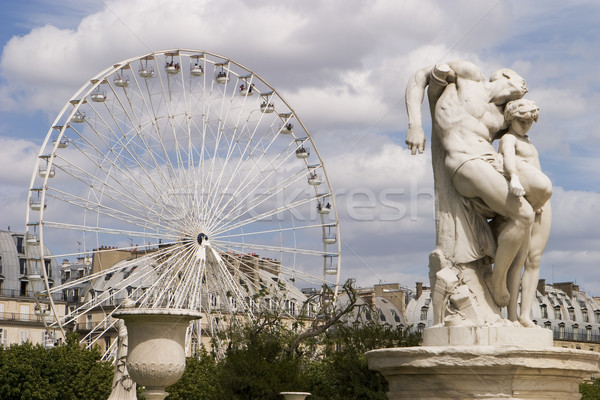 Ferris Wheel With Statue Stock photo © searagen