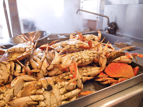 Dungeness Crabs In Kitchen Stock photo © searagen