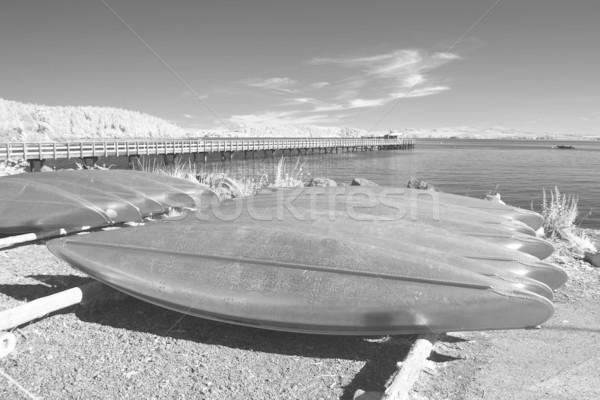 Alumínium infravörös szervezett raktár tengerpart fém Stock fotó © searagen