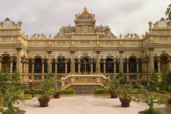Templo mi decorado Vietnam Foto stock © searagen