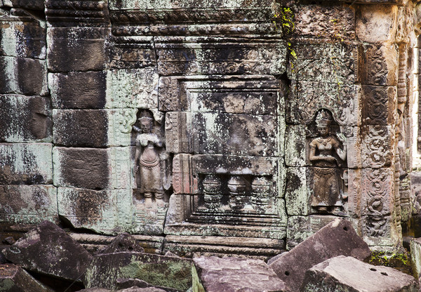 Two Carvings At Preah Khan Stock photo © searagen