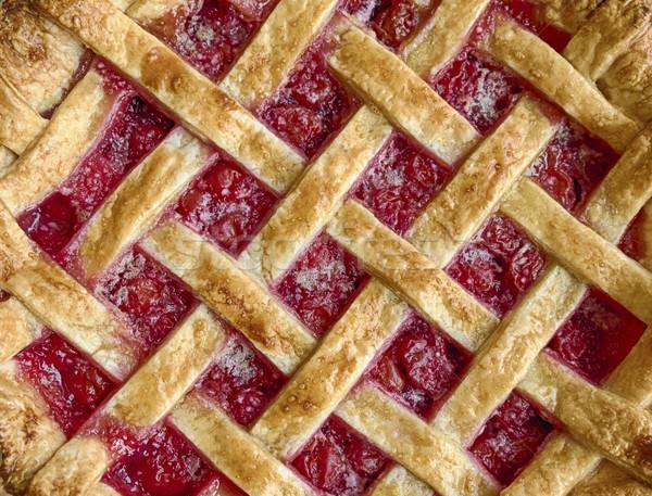 Casa torta de cereja caseiro fresco forno Foto stock © searagen