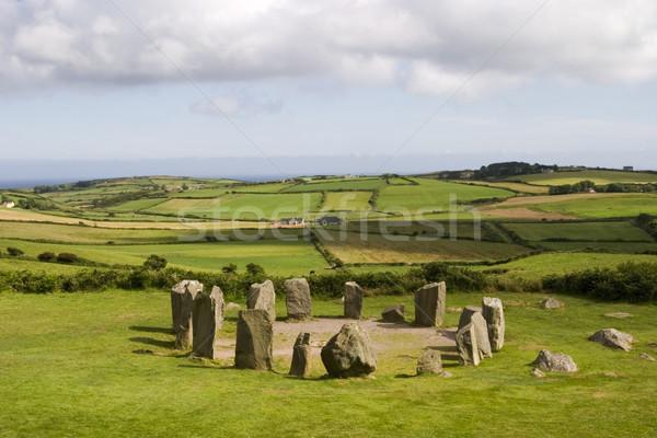 Pedra círculo antigo cortiça Irlanda Foto stock © searagen