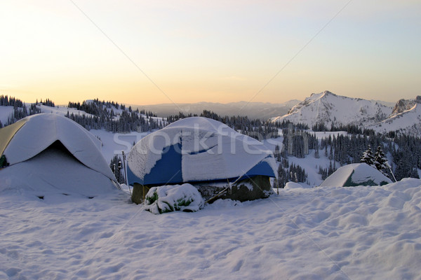 Mountain Campground Stock photo © searagen
