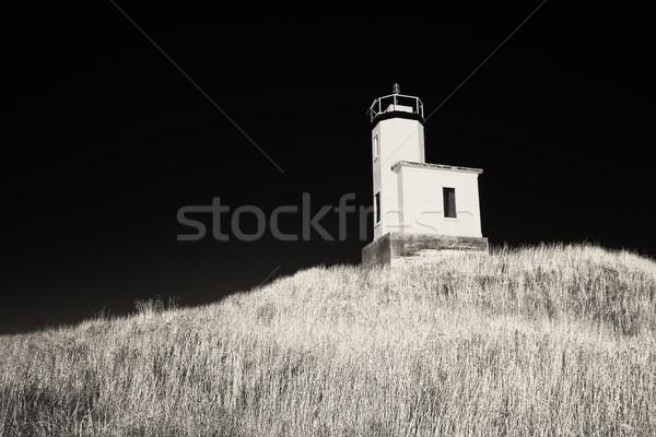 Vuurtoren infrarood vee punt san juan eiland Stockfoto © searagen