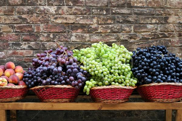 Markt Trauben Toskana Display unterschiedlich wenig Stock foto © searagen