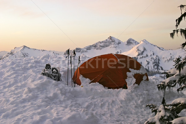Morning Tent Stock photo © searagen