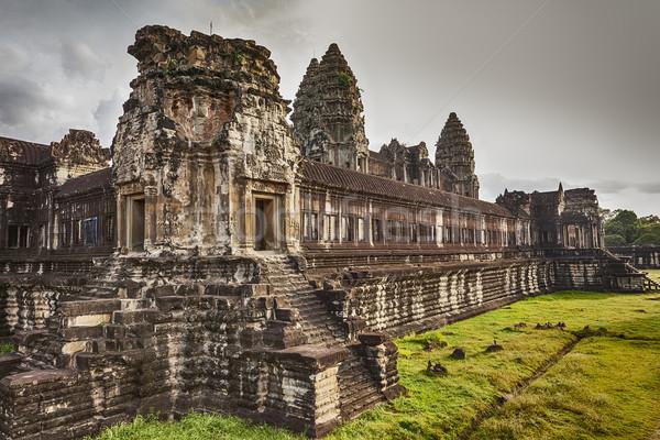 Angkor Wat segundo três paredes antigo Foto stock © searagen