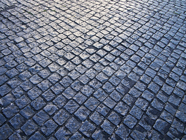 Cobblestone Pattern With Light Stock photo © searagen