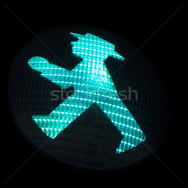 Verkeer signaal symbolisch cijfer veilig lopen Stockfoto © searagen