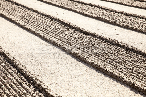Lines In Zen Sand Garden Stock photo © searagen