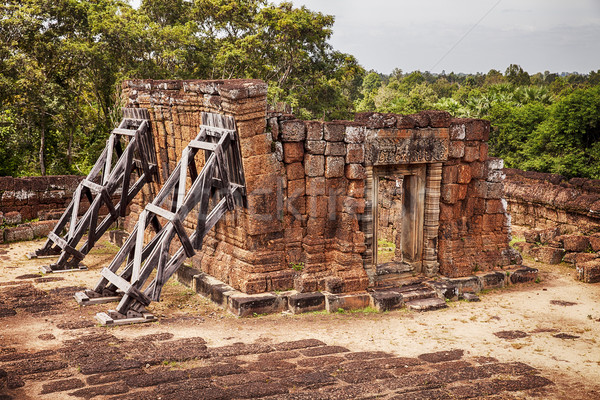 Leaning Building at East Mebon Temple Stock photo © searagen