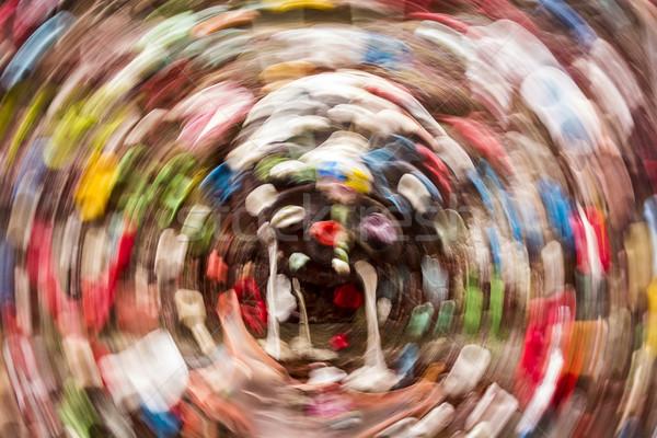 íny fal körkörös bemozdulás absztrakt kép Stock fotó © searagen